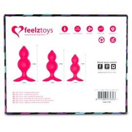 Plug Anale Bibi Twin di Feelztois rosa dimensioni