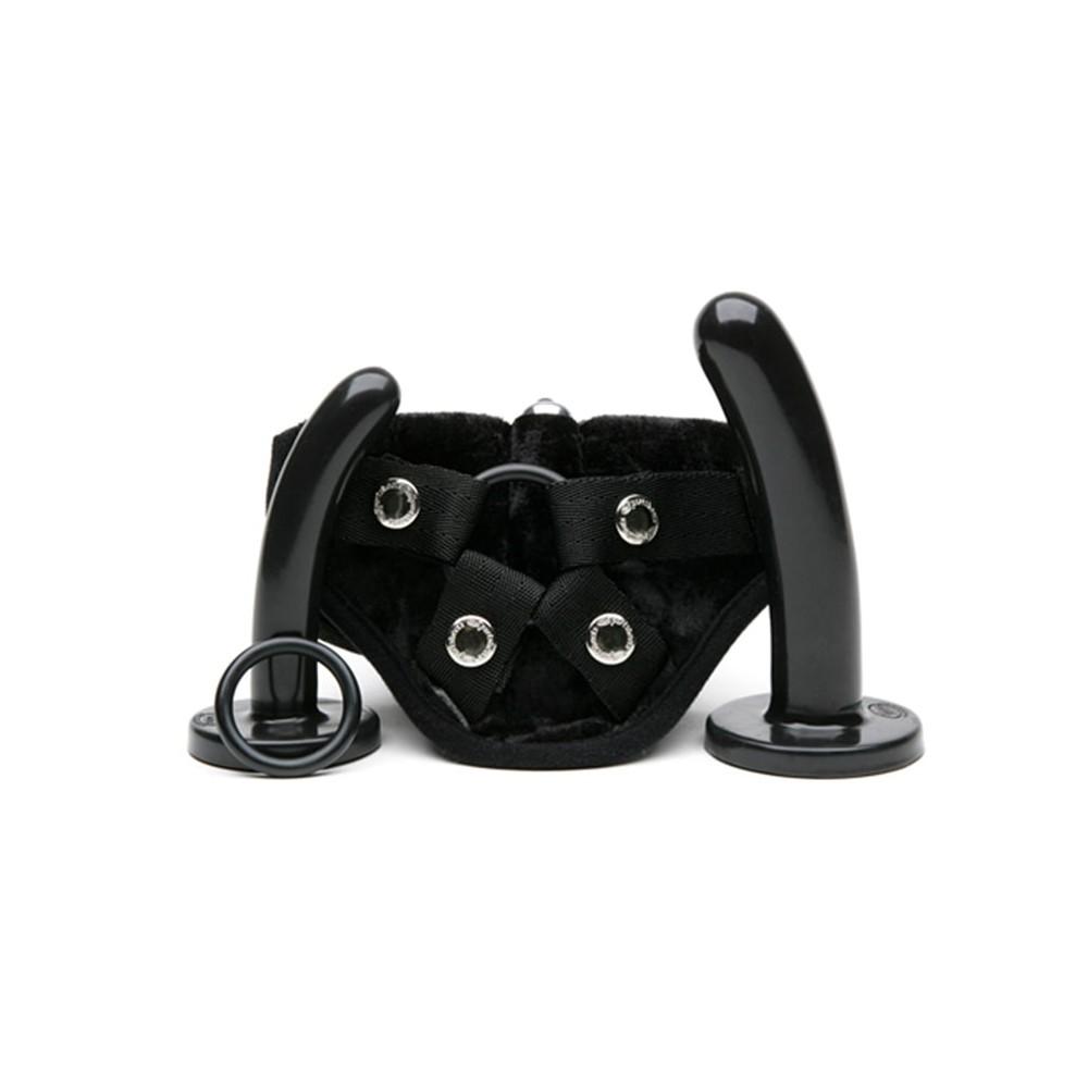 Dildo Strap-On e Harness Bend Over di Tantus nero
