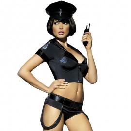 Costume de policière Ensemble de police sexy par couverture Obsessive