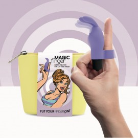 magic finger feelztoys vibratore da dito viola
